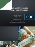Anestesi-lokal Spinal Dan Epidural