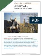 IHVH YIREJ - El Elohim de Abraham