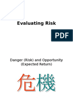 Lecture Evaluating Risk Return