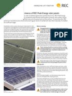 Ensuring the Best Performance of REC Peak Energy Solar Panels