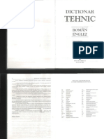 Dictionar Tehnic Roman-Englez Optimizat