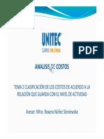 TEMA 2 CLASIFICACIÓN DE LOS COSTOS SEGUN EL NIVEL DE ACTIVIDAD.pdf