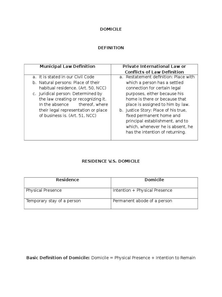 Superior Domicile | Domicile (Law) | Permanent Residence (United States)