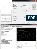 AutoCAD Text, Dimension and Leader Style Settings