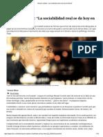 "Castells_ ""La Sociabilidad Real Se Da Hoy en Internet"""