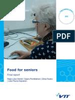 Senior Food Report