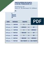 Campeonato Por 1ro de Mayo 2017 - Fixture
