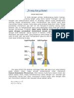 Prinsip Kerja Roket
