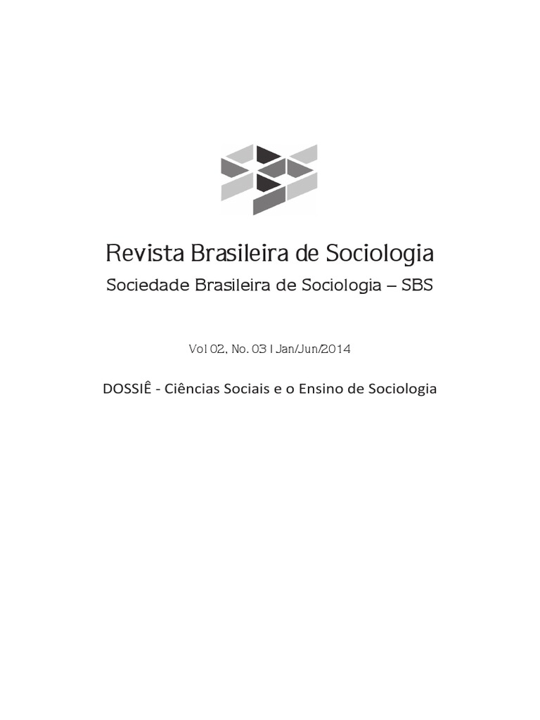 8447e27c68 DOSSIÊ - Ciências Sociais e o Ensino de Sociologia