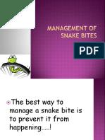Management of Snake Bites