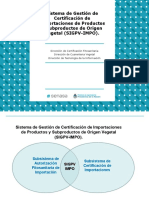 Presentación del Sistema SIGPV-IMPO de SENASA