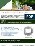 Aula 02 - Os Procedimentos Técnicos Da Tradução de Barbosa