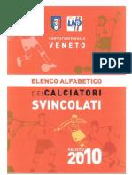 Elenco Generale Giocatori Svincolati