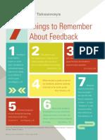feedback takeaways