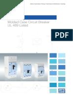 WEG Molded Case Circuit Breaker Dwb Ul 489 Listed 50066667 Brochure English