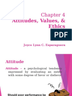Attitudes, Values , and Ethics