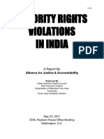 India Minority Rights Violations Report 2017