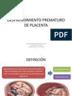 111110330 Desprendimiento Prematuro de Placenta