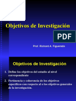 Objetivos de Investigacion y Justificacion