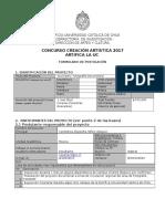 Formulario de Postulación Concurso Creación Artística Artifica La UC 2017 Actualizado Al 21-04-2017