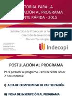 Tutorial_Postulacion Programa Patente Rapida 2015