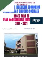 FIEECS Bases Plan Desarrollo Institucional 2017 2021