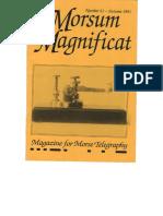 Morsum Magnificat The Original Morse Magazine-MM21