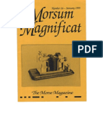 Morsum Magnificat The Original Morse Magazine-MM26