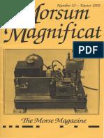 Morsum Magnificat The Original Morse Magazine-MM23
