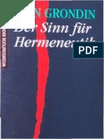 Jean Grondin-Der Sinn Für Hermeneutik -Wissenschaftliche Buchgesellschaft (1994)