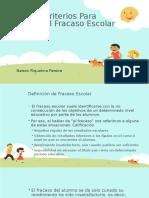 Algunos Criterios Para Prevenir El Fracaso Escolar