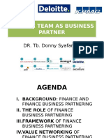 Finance Team as Business Partner