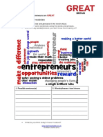 Entrepreneurs Are Great Worksheets