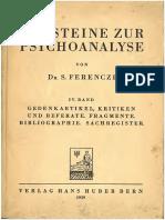 Ferenczi Bausteine Zur Psychoanalyse IV Text