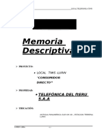 Memoria Descriptiva Local Tiws -Junio