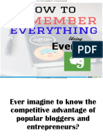 How to remember everything using Evernote?