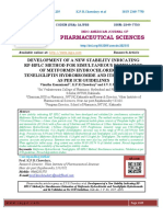 DEVELOPMENT OF A NEW STABILITY INDICATING RP-HPLC METHOD FOR SIMULTANEOUS ESTIMATION OF METFORMIN HYDROCHLORIDE AND TENELIGLIPTIN HYDROBROMIDE AND ITS VALIDATION AS PER ICH GUIDELINES