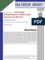 Defence Technology Indigenisation-Need to go beyond Lip Service.pdf