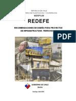 REDEFE - Recomendaciones de Diseño Para Proyectos de Infraestructura Ferroviaria