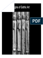 Origins of Gothic Art. St Denis and Early Chartres