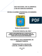 Monografia Actual situacion Forestal del Peru