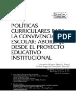 Política Curricular Convivencia Escolar.