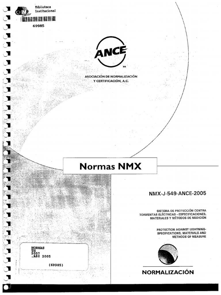 norma nmx-j-549-ance-2005