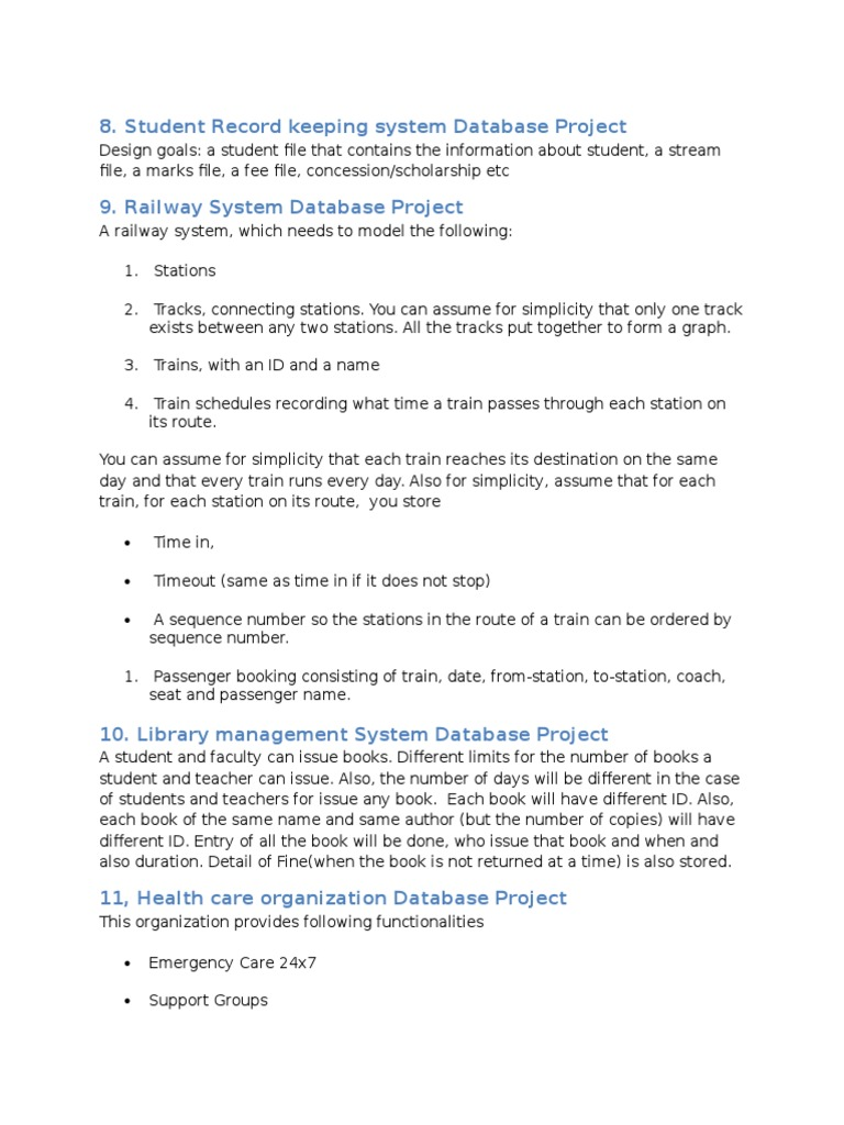 Database Project Ideas | Blood Donation | Databases