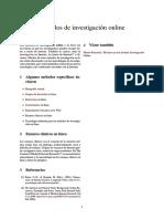 Métodos de Investigación Online