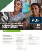 Oxfam's Conceptual Framework on Women's Economic Empowerment