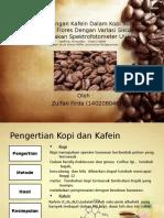 Analisis Kandungan Kafein Dalam Kopi Sumatera Dan Kopi