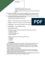 Model Perencanaan Jaring Kerja (Resume)