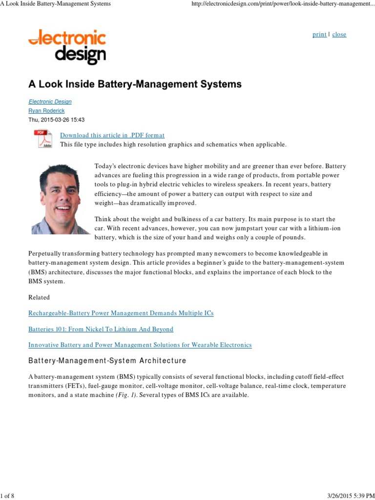 A Look Inside Battery Management Systems Electricity Single Cell Voltage Monitor Analog To Digital Converter