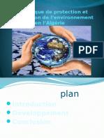 Le Politique de Protection de l'Environnement en l'Algerie